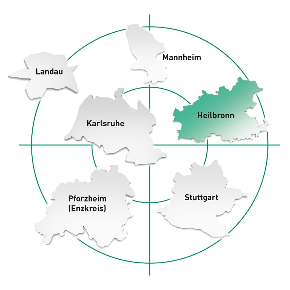 Standort Heilbronn und Umgebung