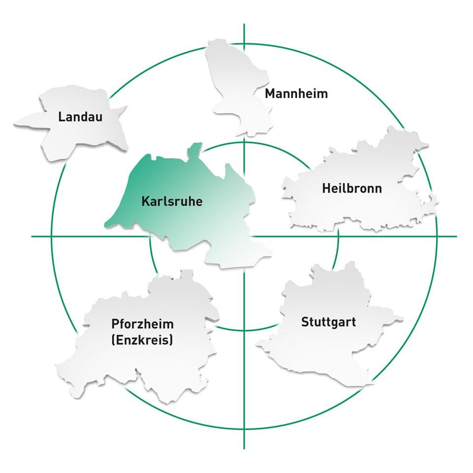 Standort Karlsruhe und Umgebung