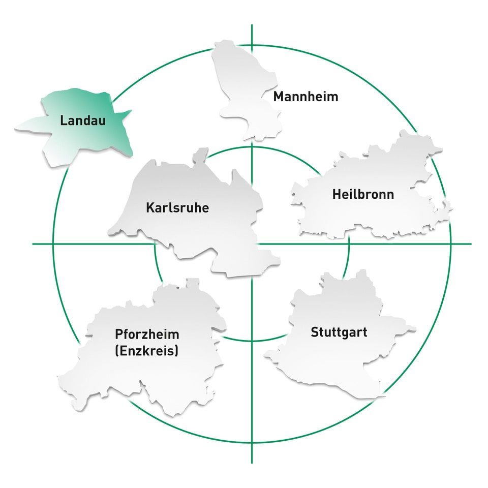 Standort Landau in der Pfalz und Umgebung