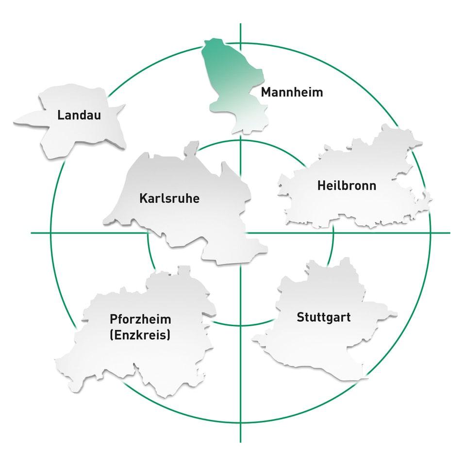 Standort Mannheim und Umgebung