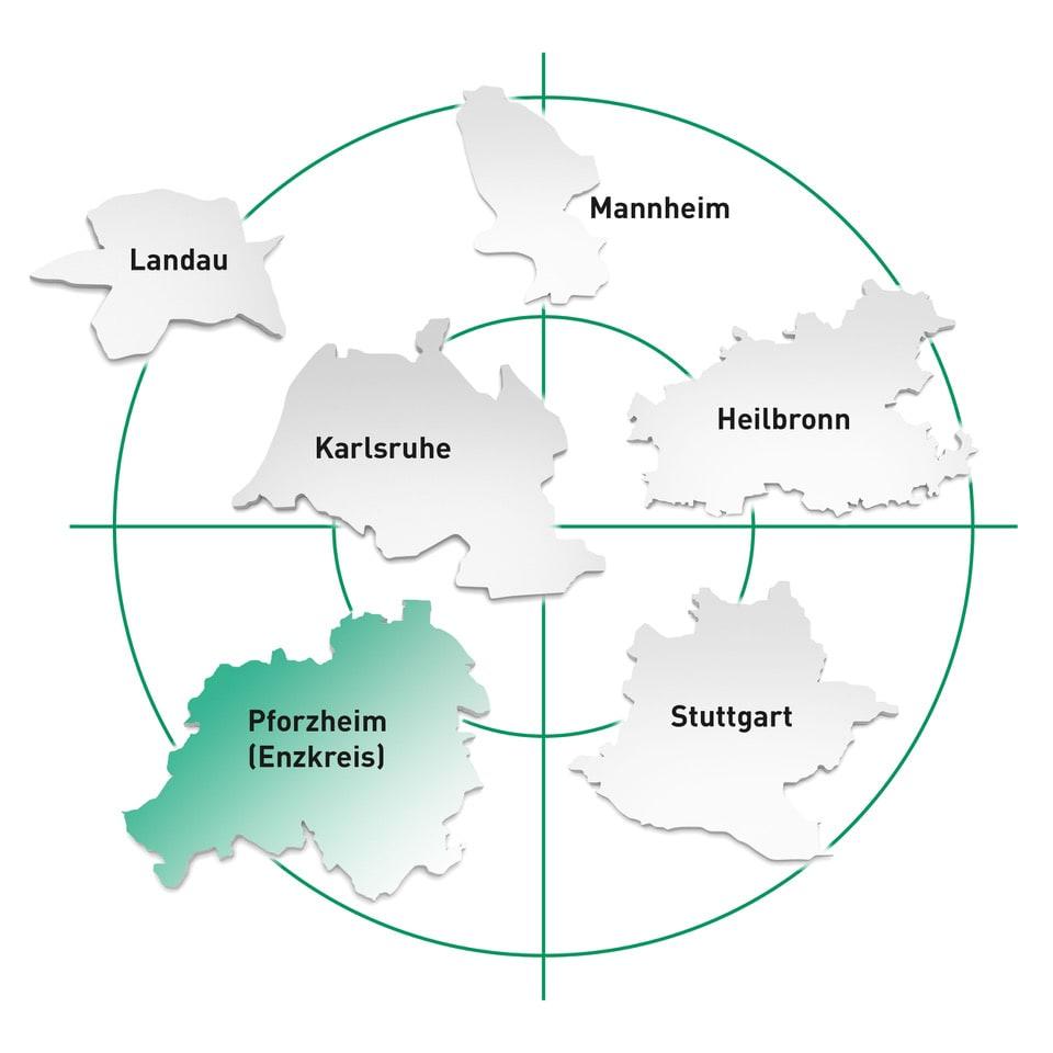Standort Pforzheim und Umgebung